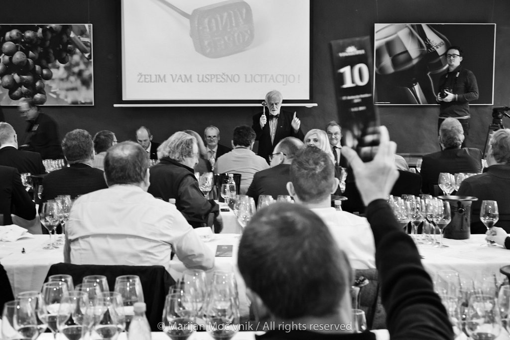 Wine Auction, Vinakoper, Istra, Slovenia